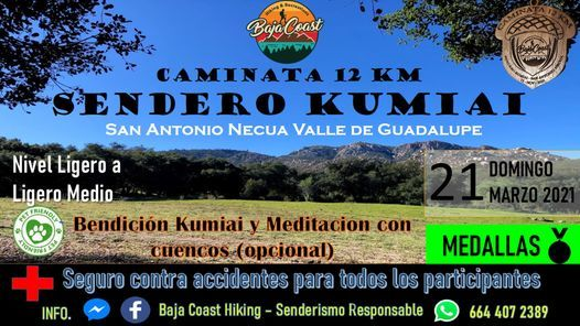 CAMINATA SENDERO KUMIAI 12 KM, 21 March | Event in Ensenada | AllEvents.in