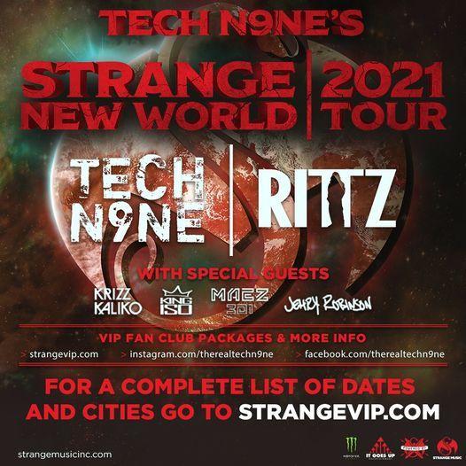 Detroit, MI - Tech N9ne's STRANGE NEW WORLD Tour 2021, 30 May   Online Event   AllEvents.in