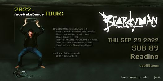 Beardyman at SUB89 | Reading, 25 November | Event in Reading | AllEvents.in