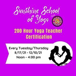 Fall 2021 TuesdayThursday 200 Hour Yoga Teacher Certification