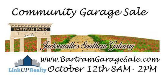 Bartram Park Community Wide Garage Sale October 12th At Bartram