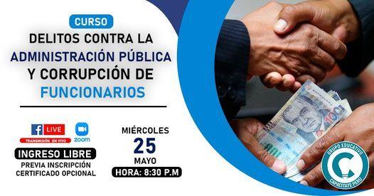 Curso Gratuito: Corrupción y ética en la administración pública, 17 November   Event in Lince   AllEvents.in