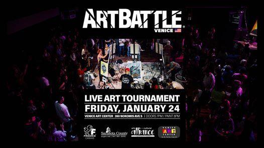 Venice Fl Calendar Of Events 2020.Art Battle Sarasota January 23 2020 At Venice Art Center