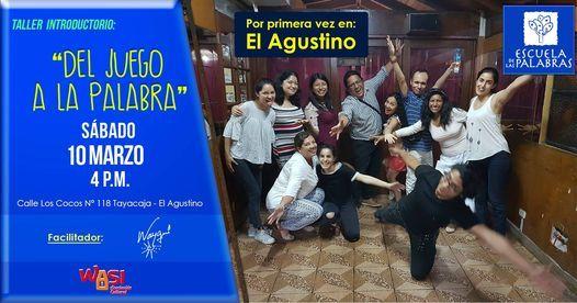 Del Juego a la Palabra - Taller Introductorio 1 sesión (marzo), 15 May | Event in Lima | AllEvents.in