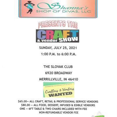 Shannas Shop of Divas Presents the Craft & Vendor Show