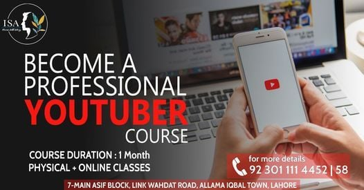 Become a Professional Youtuber Course, 11 October | Event in Lahore | AllEvents.in