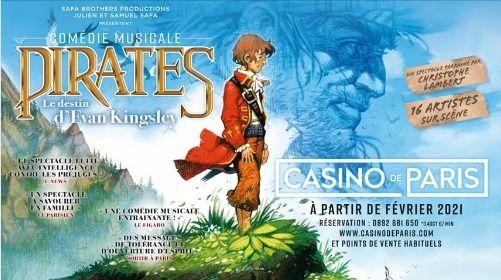 Pirates : Le Destin d'Evan Kingsley - Au Casino de Paris | Event in Clichy | AllEvents.in