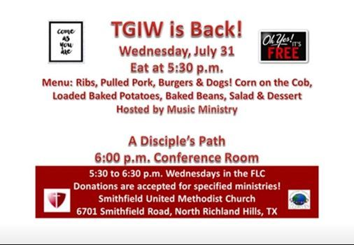 TGIW Hosted by Kelly Freiberger at Smithfield United