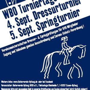 WBO 4.9. DRESSUR und 5.9. SPRING Turnier 2021