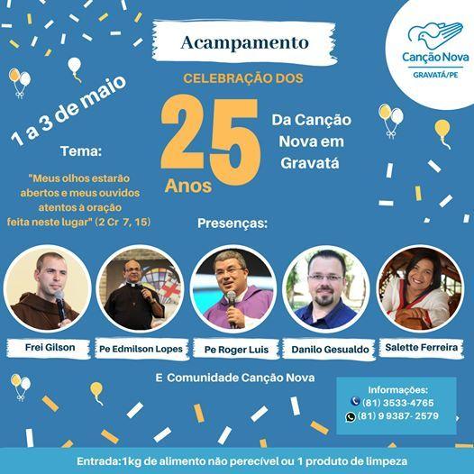 Celebrao dos 25 anos da Cano Nova em Gravat - PE