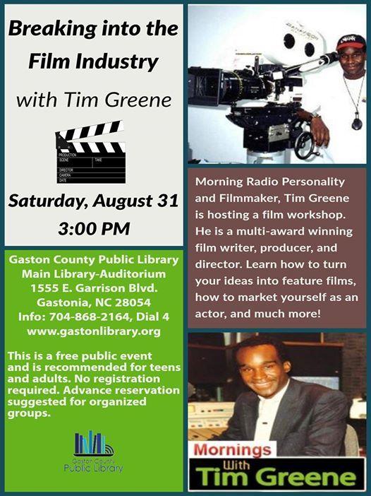 Film Workshop with Tim Greene at Gaston County Public