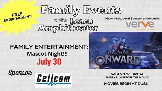 FREE Friday Movie Nights at the Leach Amphitheater - Onward, 30 July   Event in Oshkosh   AllEvents.in