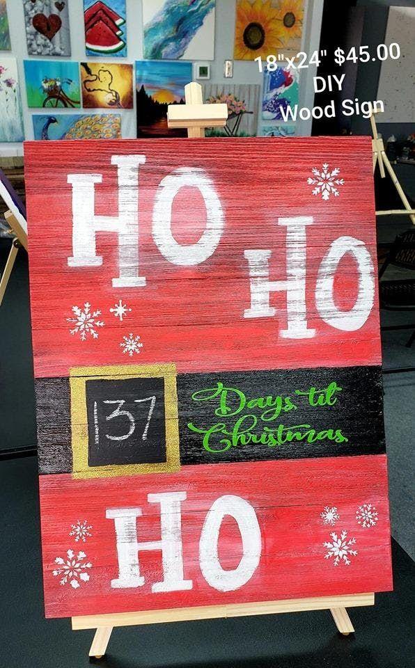 Diy Christmas Countdown Wood Sign At 6310 W 10th St Greeley
