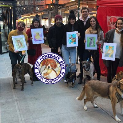 Paint and Sip  Pet Portrait Fun- Barking Dog New York