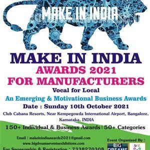 MAKE IN INDIA AWARDS 2021