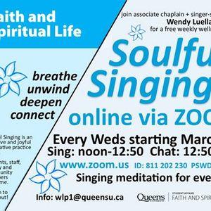 Soulful Singing (now via Zoom)