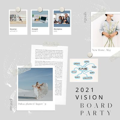 2022 Vision Board Party - Virtual Day In