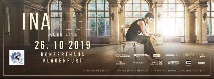 Ina Regen  Klee Klagenfurt  Zusatzkonzert ausverkauft