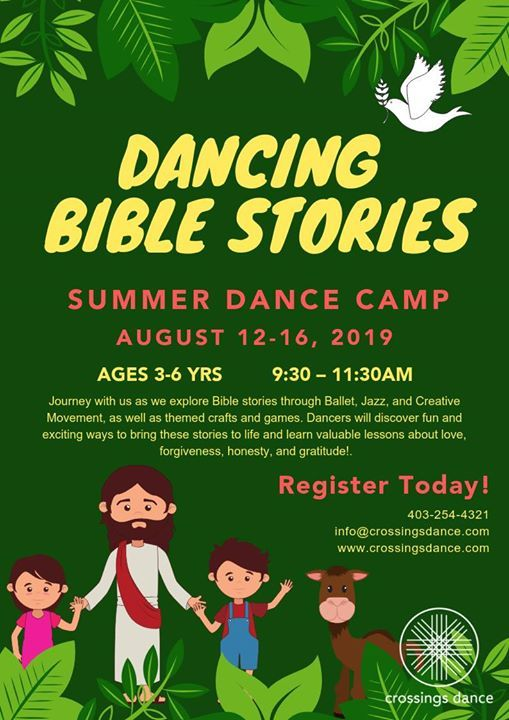 Dancing Bible Stories Summer Dance Camp at Crossings Dance, Calgary