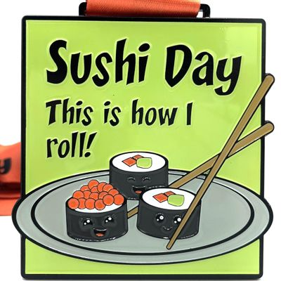 Save 10 Sushi Day 1M 5K 10K 13.1 26.2-Participate from Home.