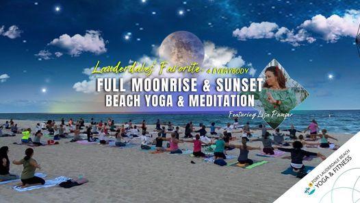 Full MOONrise: Beach Yoga, Meditation & More  Ft Lauderdale Beach, 21 October | Event in Fort Lauderdale
