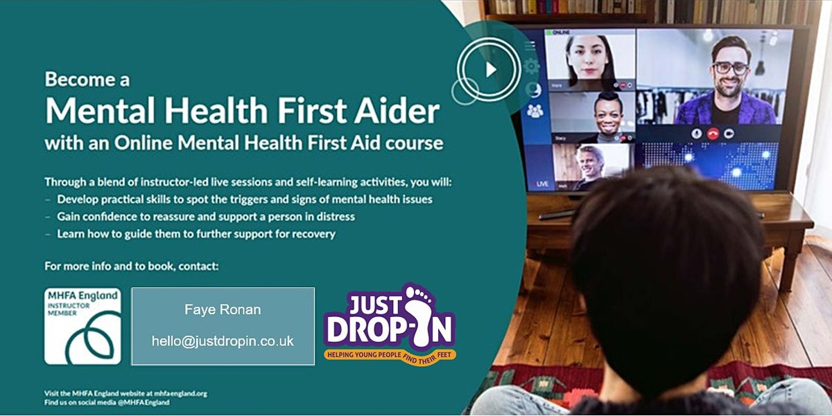 Mental Health First Aid 2 Day ONLINE - Youth (Cheshire East Staff Only), 15 June | Online Event | AllEvents.in
