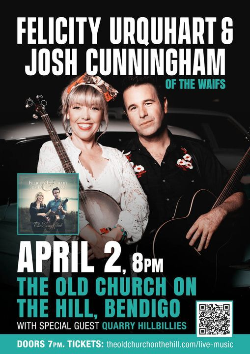 Felicity Urquhart and Josh Cunningham (The Waifs), live at The Old Church on the Hill, Bendigo, 10 July | AllEvents.in