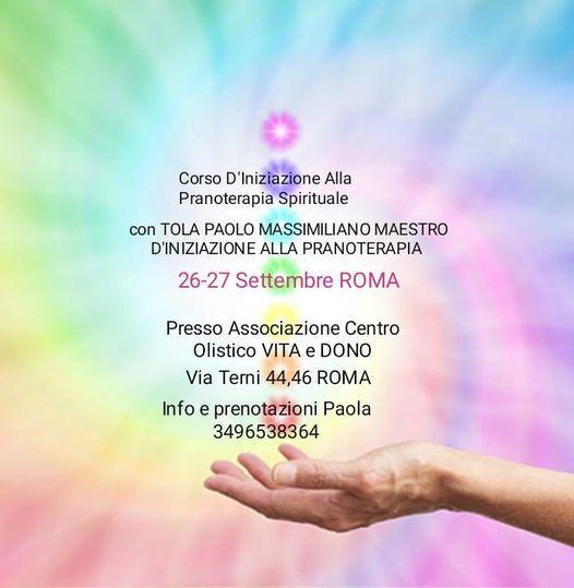 Corso Di PRANOTERAPIA Spirituale _Roma