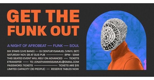 GET THE FUNK OUT | Event in Halifax | AllEvents.in