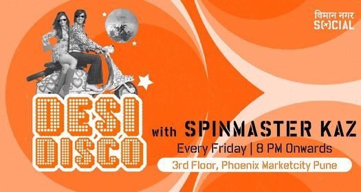 Desi Disco with Spinmaster Kaz (Bollywood Night), 22 January   Event in Pune   AllEvents.in