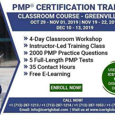 PMP Certification Training Course in Greenville SC MN USA  4-Day PMP Boot Camp with PMI Membership and PMP Exam Fees Included