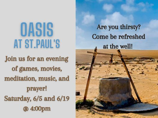 OASIS at St. Paul's, 19 June | Event in Gambrills | AllEvents.in