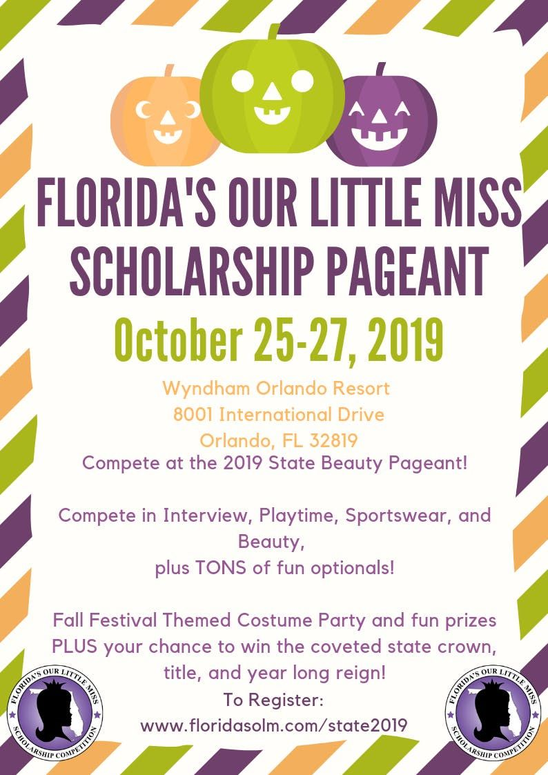 2019 Floridas Our Little Miss Beauty State Pageant