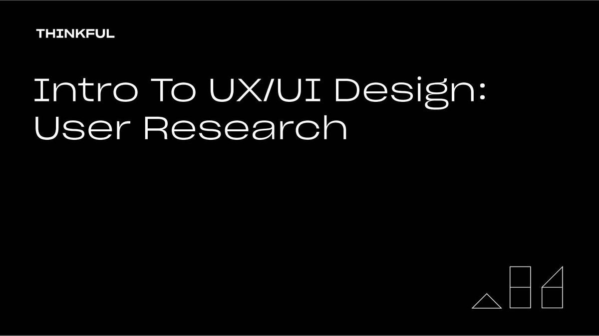 Thinkful Webinar | Intro to UX/UI Design: User Research, 17 May | Event in Sacramento | AllEvents.in