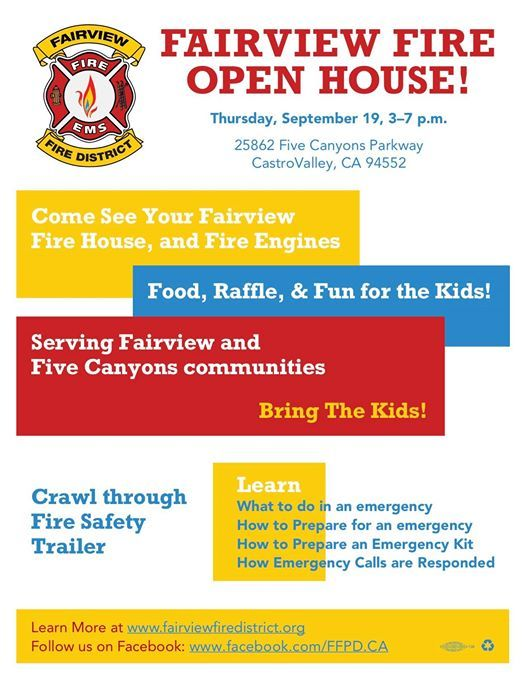 Fairview Fire Open House | Castro Valley