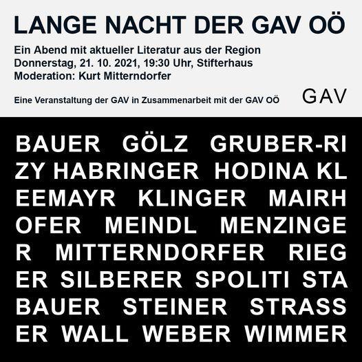 GAV OÖ – Lange Nacht der GAV OÖ, 21 October | Event in Linz | AllEvents.in