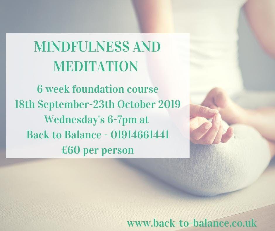 6 Week Foundation Mindfulness and Meditation Course