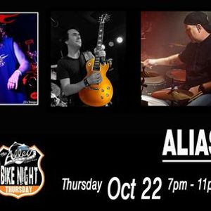 Alias  Live Music Thursday Bike Night At The Alley & Fuel BBQ