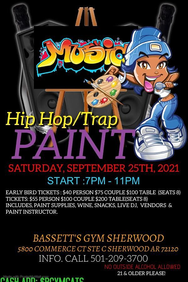 HIPHOP/TRAP PAINT PARTY, 20 November   Event in Sherwood   AllEvents.in