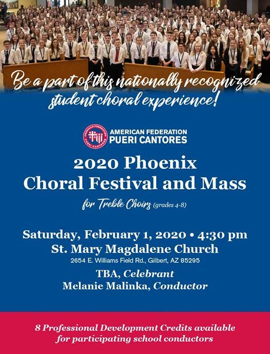 Phoenix Events February 2020.2020 Pueri Cantores Phoenix Choral Festival At St Mary