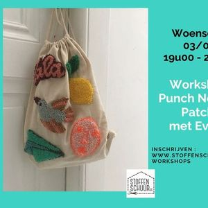 Workshop punch needle patch