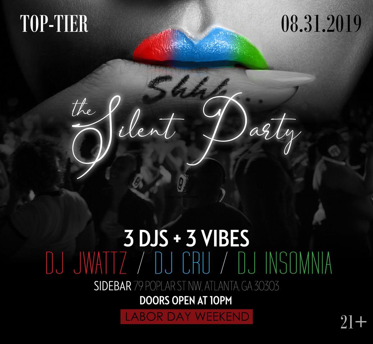 Shhh       The Silent Party at Sidebar, Atlanta