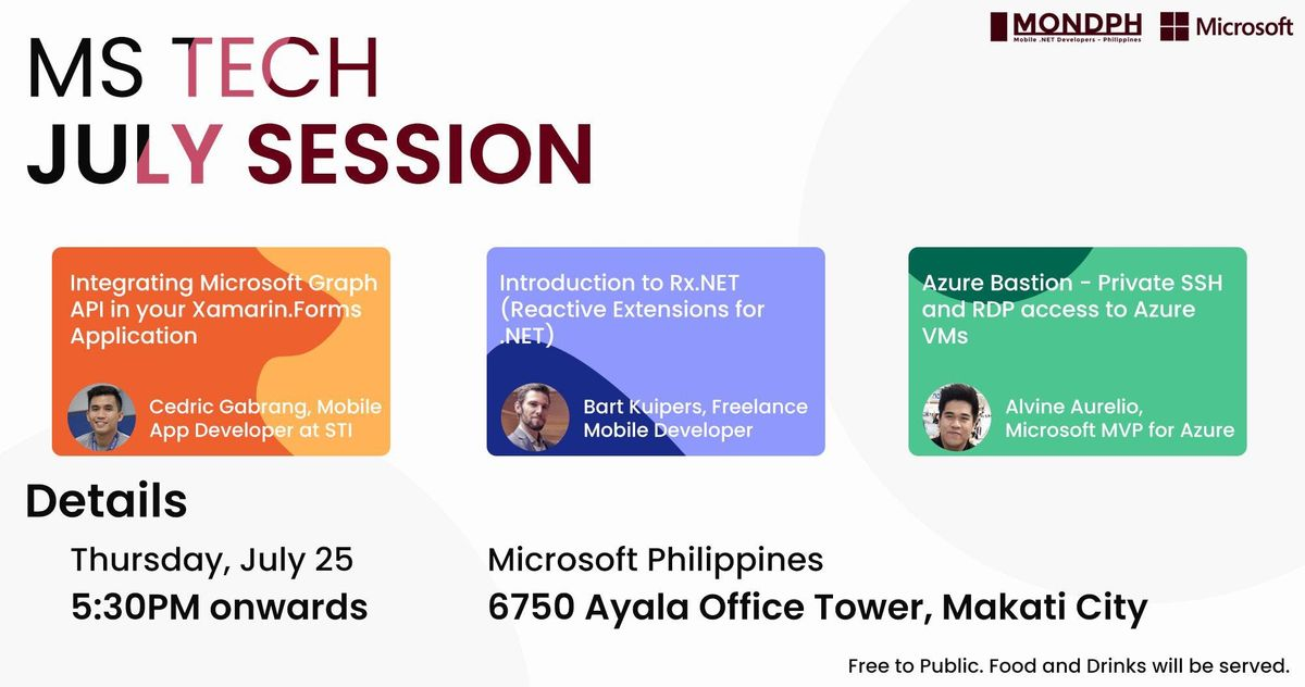 July Microsoft Tech Session at 6750 Ayala Avenue Building, Makati