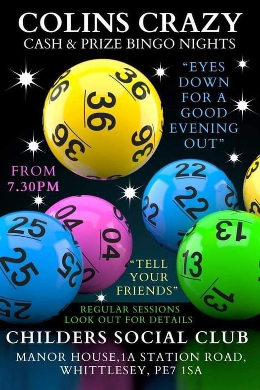 Childers Cash bingo night, 21 May   Event in Peterborough   AllEvents.in