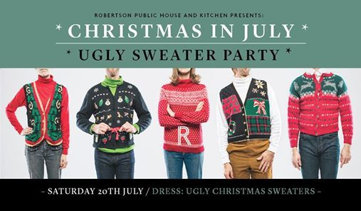 Christmas In July Outfits Australia.Christmas In July Ugly Sweater Party At Robbo Pub Bowral