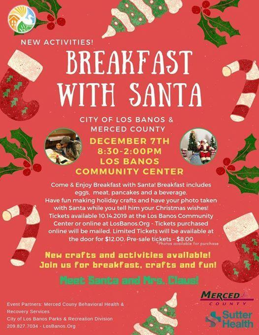 Banos Online.Breakfast With Santa At City Of Los Banos Parks And Rec