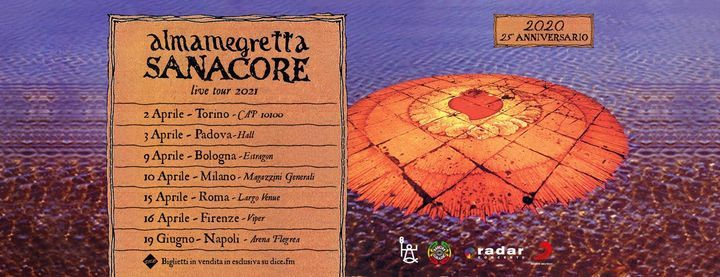 Almamegretta • Sanacore live tour 2021 • Firenze, 16 April   Event in Florence   AllEvents.in