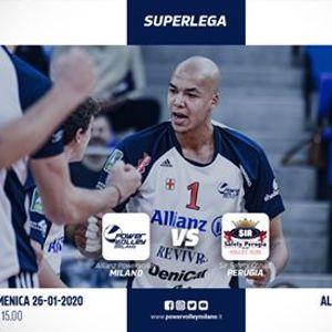 Superlega  Allianz Powervolley Milano - SirSafety Conad Perugia