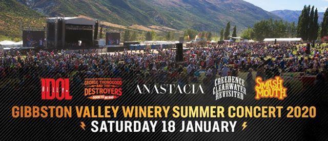 Summer Concerts 2020.Gibbston Valley Concerts 2020 Queenstown