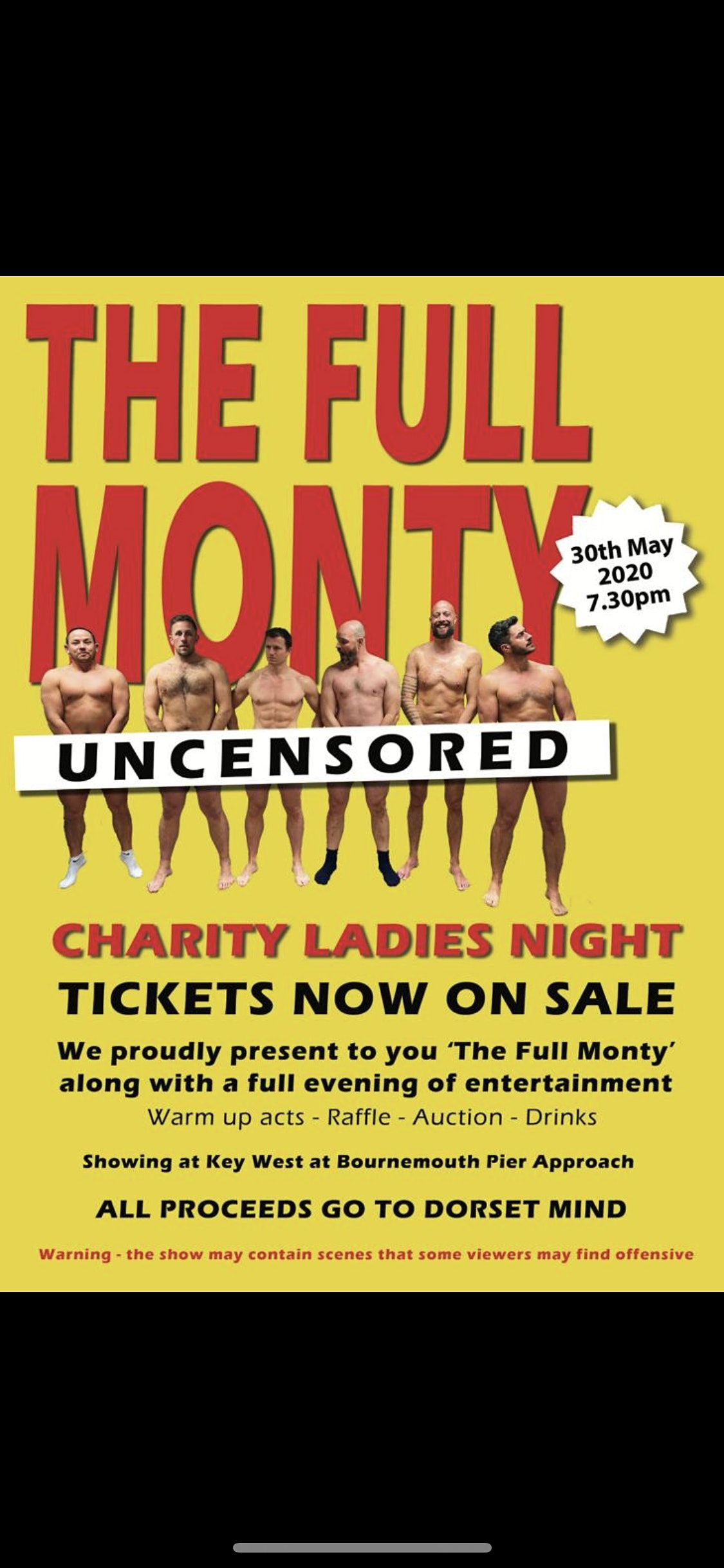 The Full Monty Charity Ladies Night, 27 March | Event in Bournemouth | AllEvents.in
